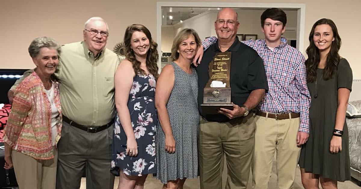 Family Accepting an Award